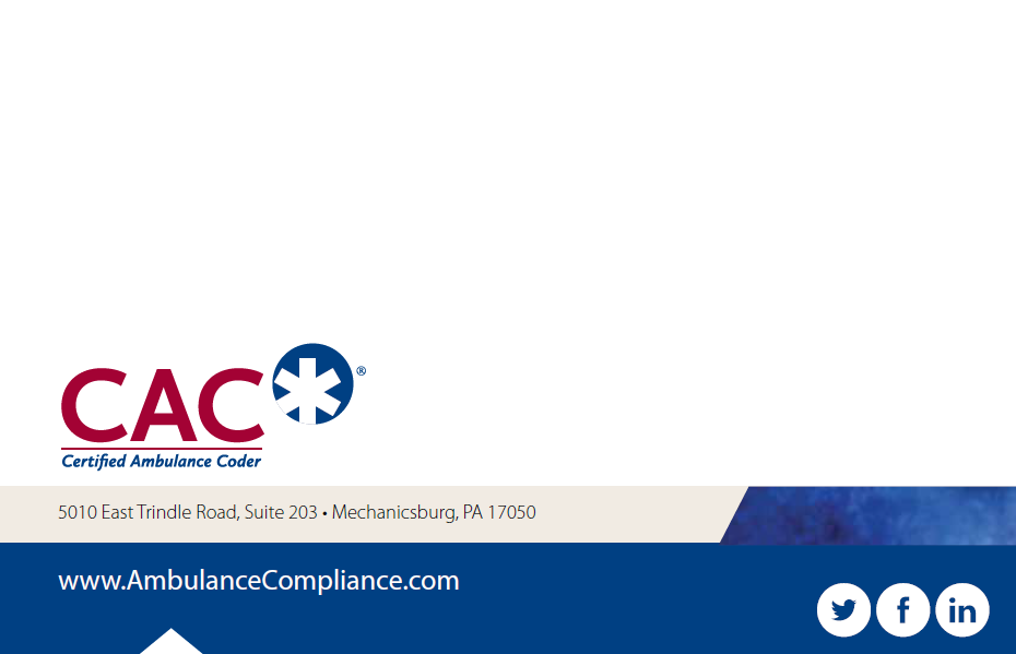 CAC Brochure | National Academy of Ambulance Compliance