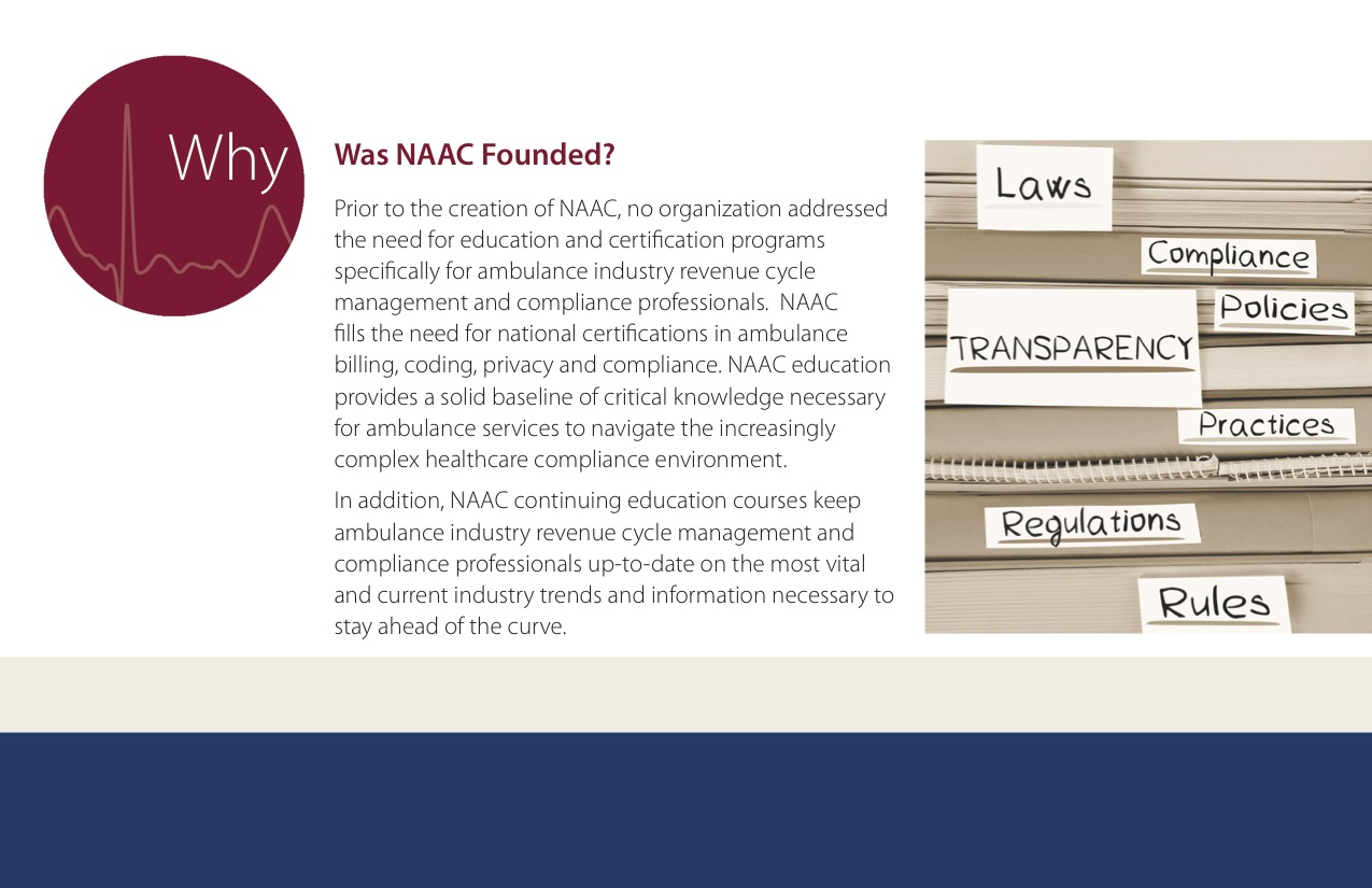 About Naac Brochure National Academy Of Ambulance Compliance